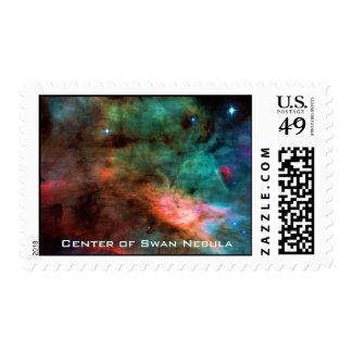 Center of The Swan Nebula Stamp