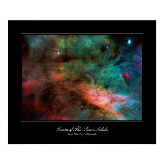Center of The Swan Nebula Poster