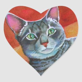 Center of the Universe Cat Heart Sticker