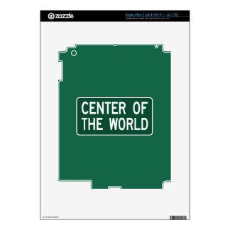 Center Of The World, Road Marker, Ohio, USA Skin For iPad 3