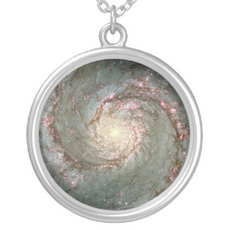 Center of Whirlpool Galaxy Hubble Photo Charm Round Pendant Necklace
