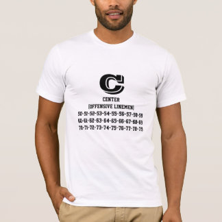 Center (OL) jersey numbers T-Shirt