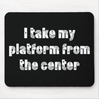 Center platform mouse pad