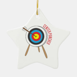 Center Punched Double-Sided Star Ceramic Christmas Ornament