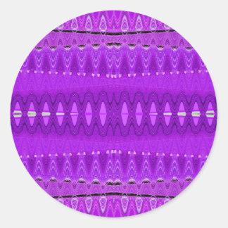 center purple classic round sticker