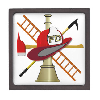 Center Scramble Fire Department Design Gift Box