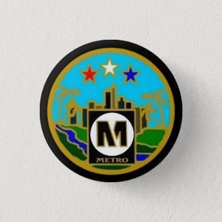 Center Seal- Los Angeles Metro Buses Button