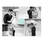 Center Square Monogram Wedding Thank You Photo Post Cards