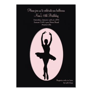 Center Stage Ballerina Invitation