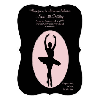 Center Stage Ballerina Invitation #2