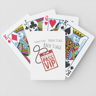 Center Stage Bicycle Playing Cards