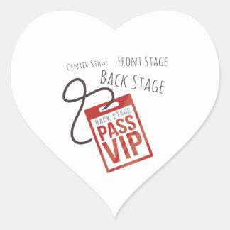 Center Stage Heart Sticker