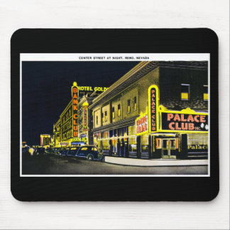 Center Street at Night Reno Nevada Mouse Pads