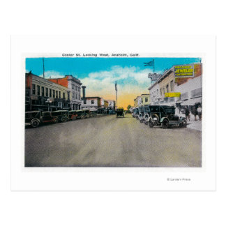 Center Street Looking WestAnaheim, CA Post Cards