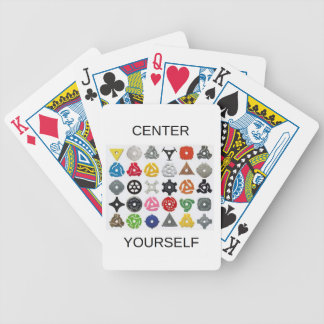 Center Yourself Bicycle Playing Cards