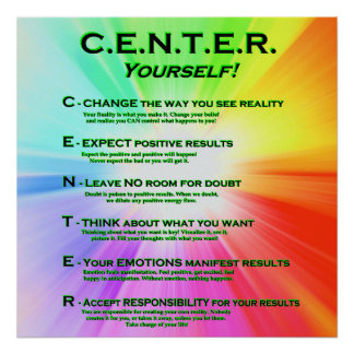 CENTER Yourself! Bright Colors Poster