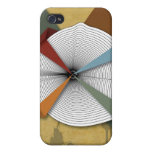 Center Yourself-Digital Grunge Abstract Art iPhone 4 Covers