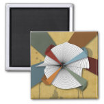 Center Yourself-Digital Grunge Abstract Art Fridge Magnets