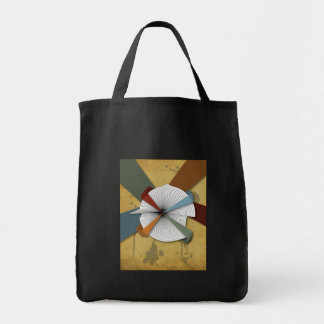 Center Yourself-Digital Grunge Abstract Art Tote Bag