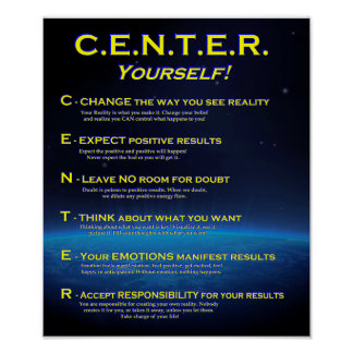 CENTER Yourself! Poster