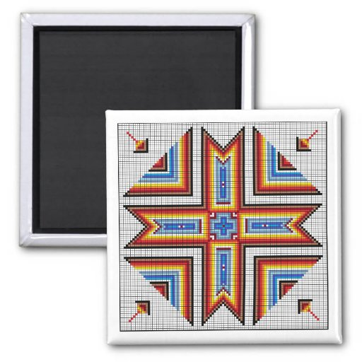 Centered 2 Inch Square Magnet