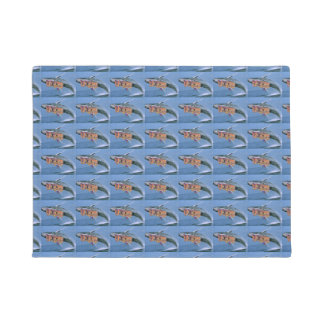 centered and more tiles disco bus floor mat