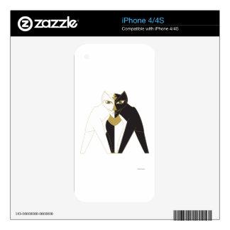 Centered Cat iPhone 4 Skins