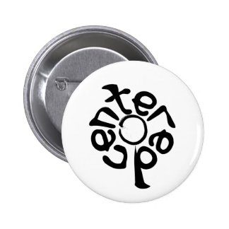 Centered with Enso Pinback Button