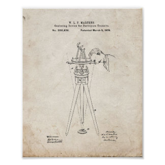 Centering Device For Surveyors Transits Patent - O Poster