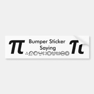 Centesimal 10 Digit Pi by Kenneth Yoncich Bumper Sticker
