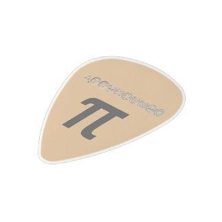 Centesimal 10 Digit Pi Polycarbonate Guitar Pick