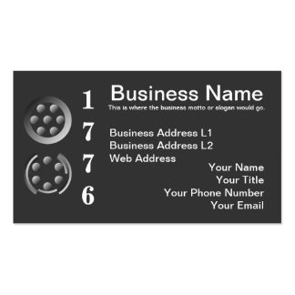 Centesimal 1776 business card