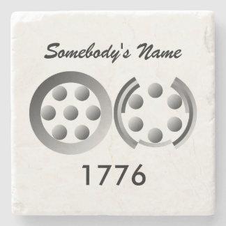 Centesimal 1776 stone beverage coaster