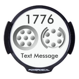 Centesimal 1776 LED car decal