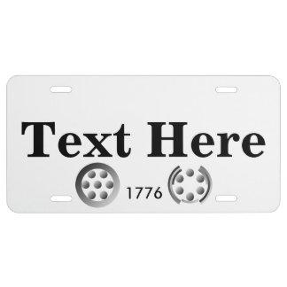 Centesimal 1776 license plate