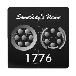Centesimal 1776 puzzle coaster