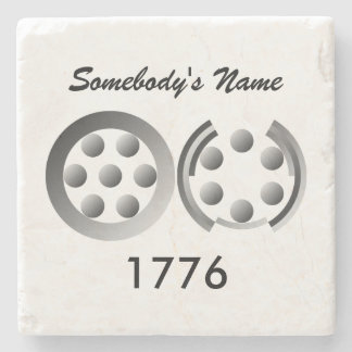Centesimal 1776 stone coaster