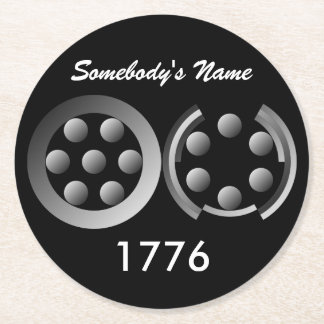 Centesimal 1776 round paper coaster