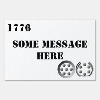 Centesimal 1776 yard sign