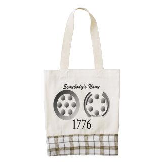 Centesimal 1776 zazzle HEART tote bag