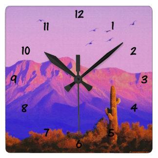 Centinela silencioso solitario reloj cuadrado