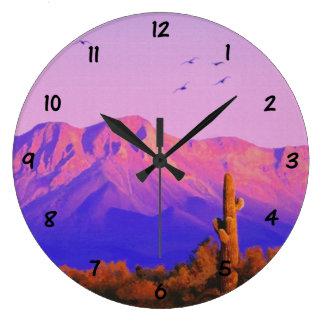 Centinela silencioso solitario reloj redondo grande