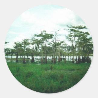 Centinelas de Cypress Pegatina Redonda