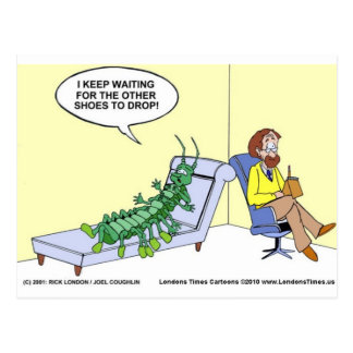 Centipede In Therapy Funny Gifts Tees Mugs Etc Postcard