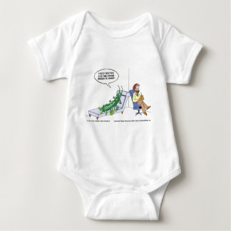 Centipede Psychiatry Funny Cards Mugs & Gifts Baby Bodysuit