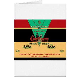 CENTLIVRE BEER CAN DESIGN FORT WAYNE INDIANA CARD