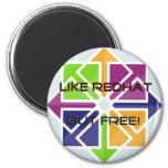 CentOS - Like RedHat, but FREE! Fridge Magnet