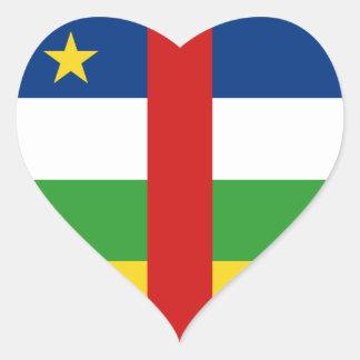Centrafrique Flag Heart Sticker