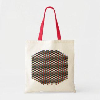 Centrafrique Flag Hearts Bag