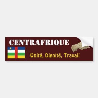 Centrafrique Flag + Map Bumper Sticker Car Bumper Sticker